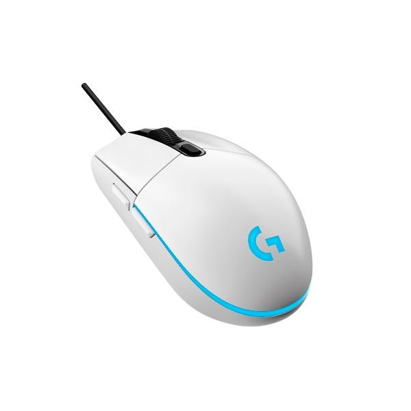 Logitech Gaming Mouse G203 LightSync 8000dpi Blanco  Ratón