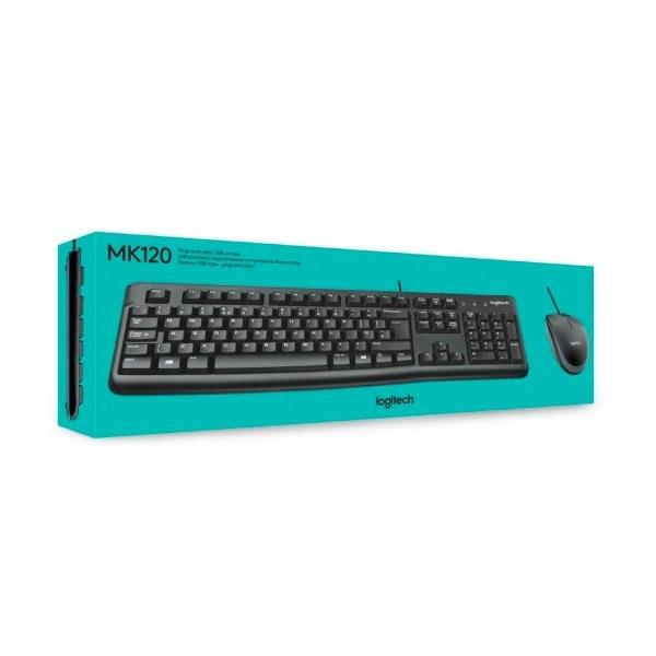 Logitech Desktop MK120 Alemán DE - Kit teclado y ratón