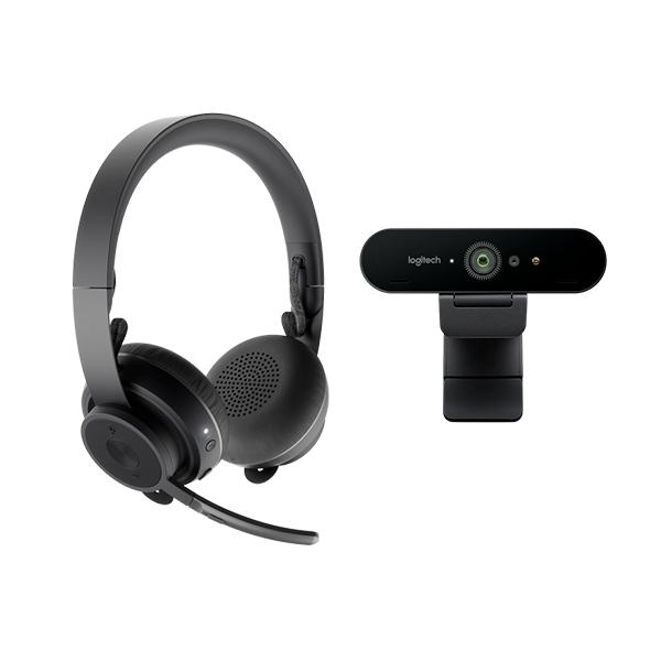 Logitech Zone Wireless  Brio 4K  Kit de videoconferencia