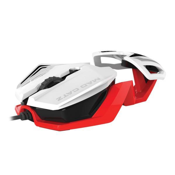 Mad Catz R.A.T. 1 Color blanco / rojo – Ratón