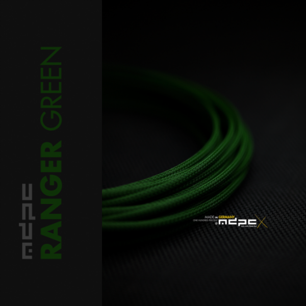 MDPC-X Verde 1m grosor de 1,7-7,8mm – Funda de cable