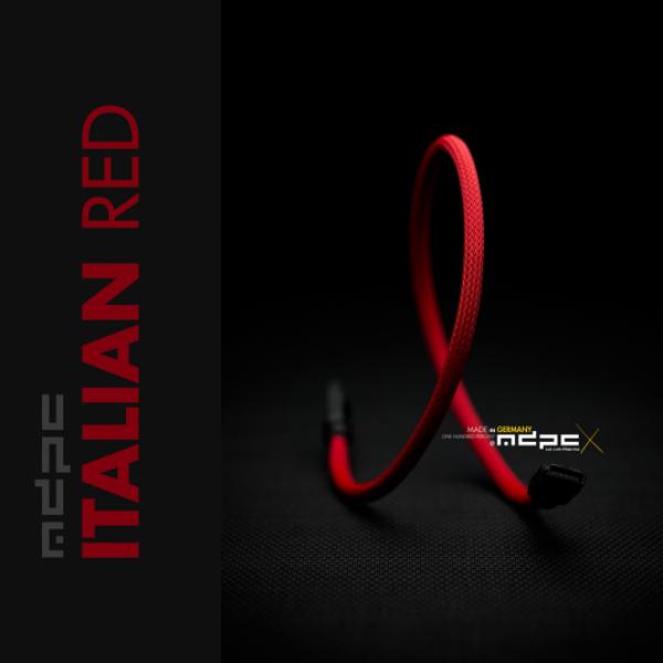 MDPC-X Rojo Italiano UV 1m - Funda de cable SATA