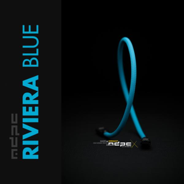 MDPC-X Azul UV 1m – Funda de cable SATA