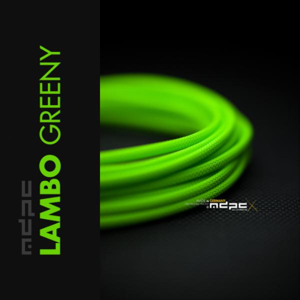 MDPC-X Verde Lambo 1m grosor de 1,7-7,8mm – Funda de cable