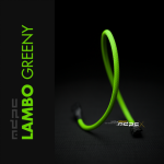 MDPCX Verde Lambo UV 1m  Funda de cable SATA