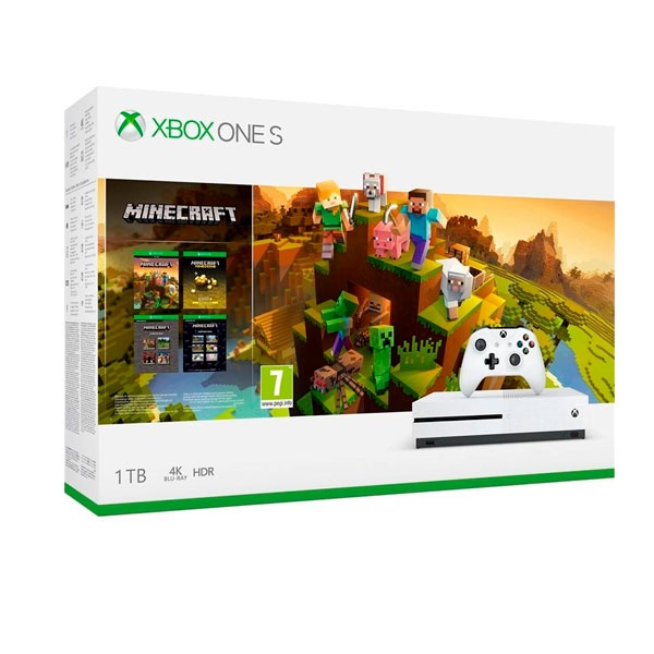 Xbox One S 1TB + Minecraft Holiday - Consola