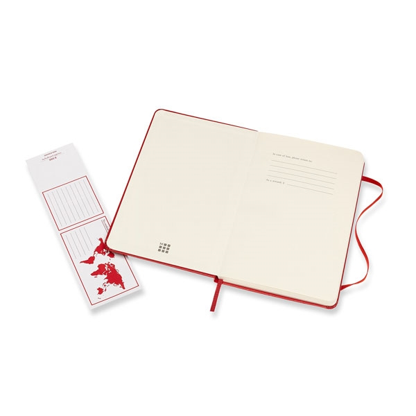 Moleskine Cuaderno Classic Rayas Tapa Dura Roja Talla M