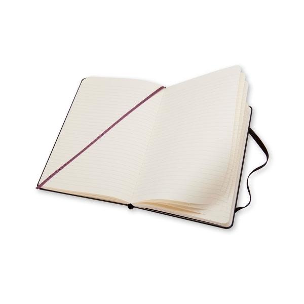 Moleskine Cuaderno Classic Rayas Tapa Dura Negra Talla L