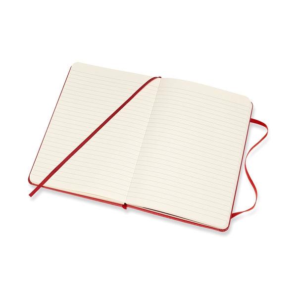 Moleskine Cuaderno Classic Rayas Tapa Dura Roja Talla L