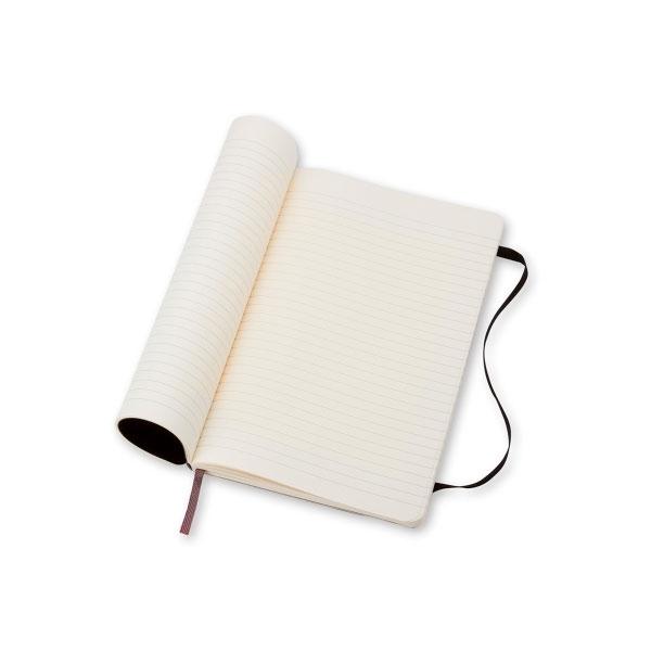 Moleskine Cuaderno Classic Rayas Tapa Blanda Negra Talla P