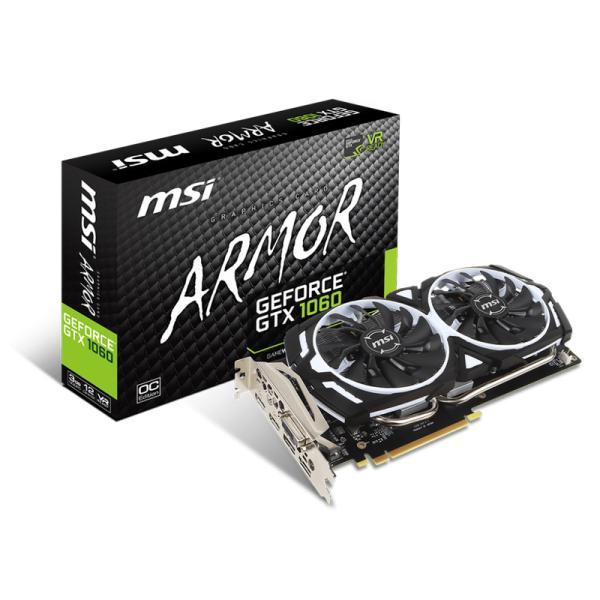 MSI Nvidia GeForce GTX1060 Armor OCV1 3GB  Gráfica