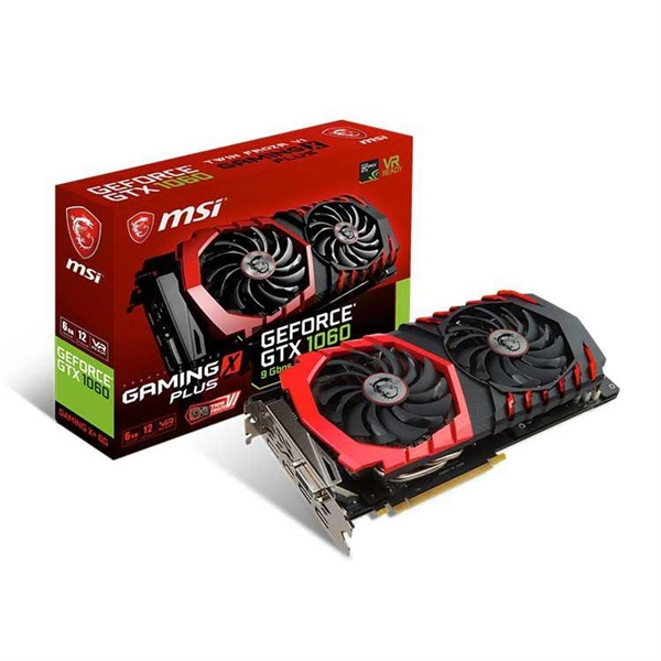 MSI Nvidia GeForce GTX1060 Gaming X+ 6GB 11Gbps- Gráfica