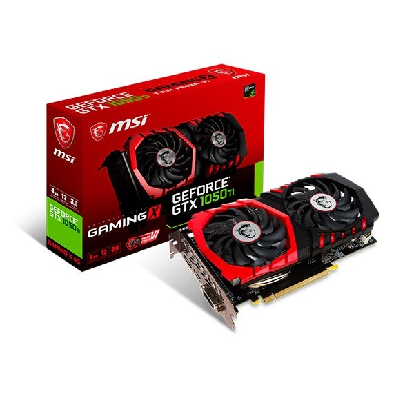 MSI Nvidia GeForce GTX 1050 Ti Gaming X 4GB  Grfica