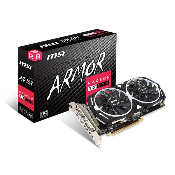 MSI AMD Radeon RX570 Armor OC 4GB  Gráfica