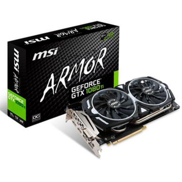 MSI Nvidia GeForce GTX1080 Ti Armor OC 11GB  Gráfica