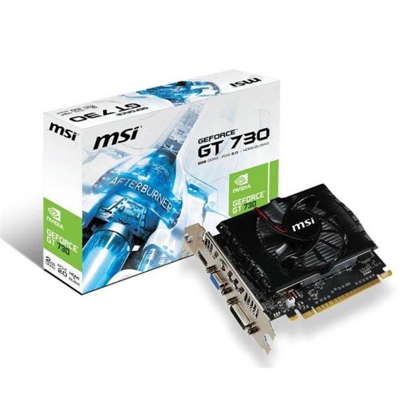 MSI Nvidia GeForce GT 730 2GB GDDR3  Gráfica