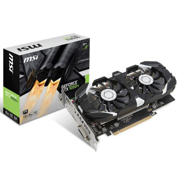 MSI Nvidia Geforce GTX1050 TI 4GT OC – Gráfica