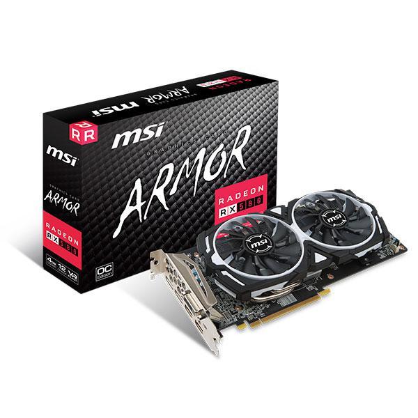 MSI AMD Radeon RX580 Armor 4GB OC – Gráfica