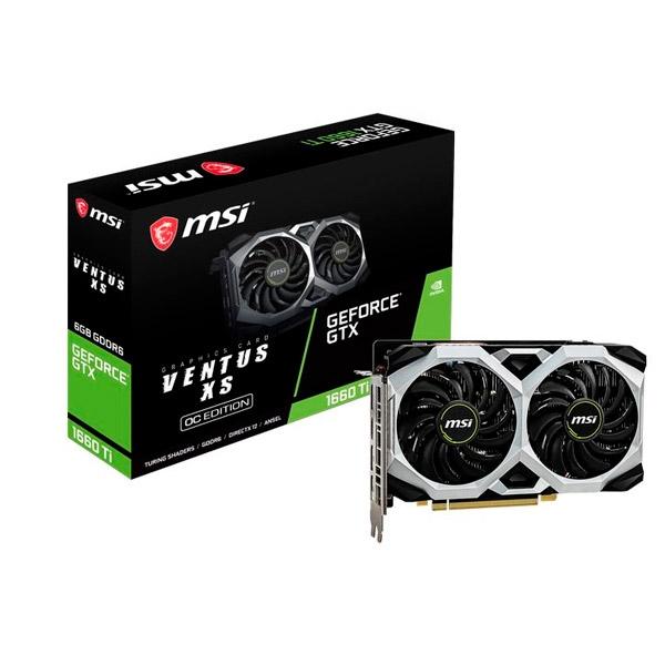 MSI Nvidia GeForce GTX 1660 Ti Ventus XS OC 6GB - Gráfica