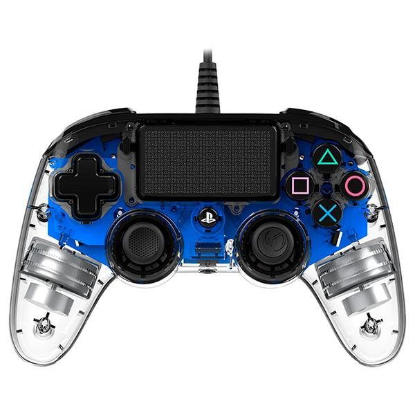 Nacon PS4 oficial transparente LED azul  wired – Gamepad