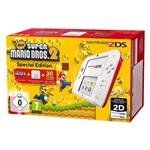 Nintendo 2DS Roja/Blanca + New Super Mario Bros 2 - Consola