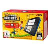 Nintendo 2DS Azul/Negra + New Super Mario Bros 2 – Consola