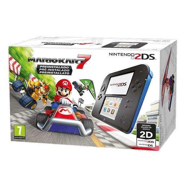 Nintendo 2DS Azul  Mario Kart 7  Consola
