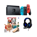 Pack Nintendo Switch Neon +  Labo Vehículos + Auriculares