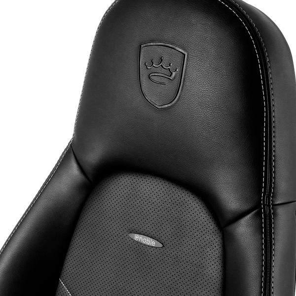 Noblechairs Icon cuero PU negro  blanco  Silla