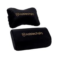 Noblechair set lumbar y cervical negro / dorado - Cojin