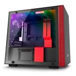 NZXT H200i con ventana negra  rojo  Caja