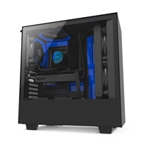 NZXT H500 con ventana negra / azul - Caja