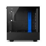 NZXT H500i con ventana negra  azul  Caja