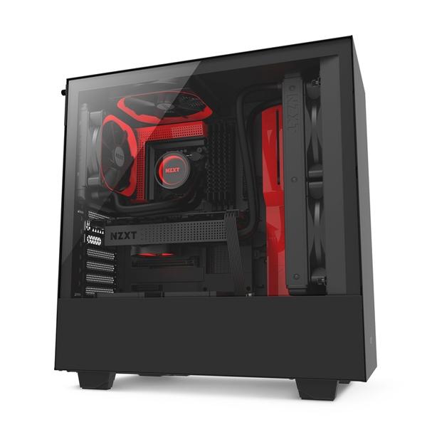 NZXT H500i con ventana negra  roja  Caja