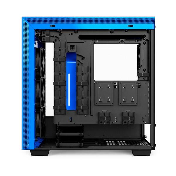 NZXT H700 con ventana negra  azul  Caja