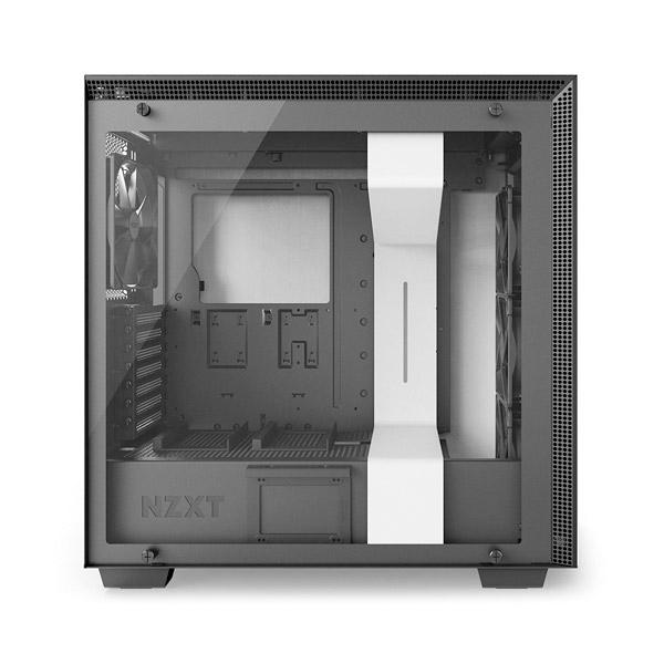 NZXT H700 con ventana blanca  negra  Caja