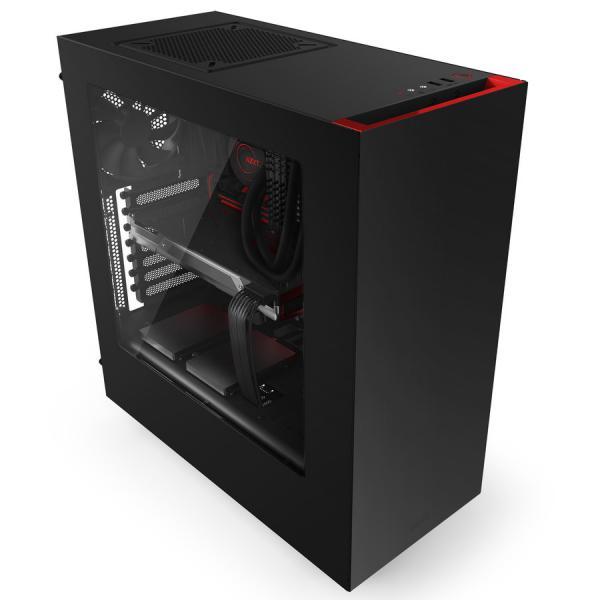NZXT S340 ATX negra  roja  Caja
