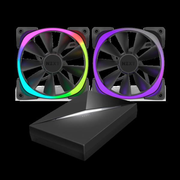 NZXT AER RGB LED dual pack 120mm + HUE + – Ventilador