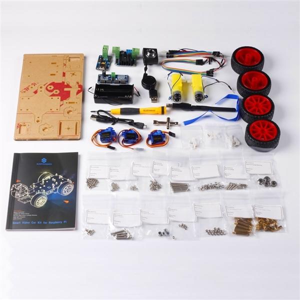 Kit Coche Robot con cámara de vídeo hecho con Raspberry Pi