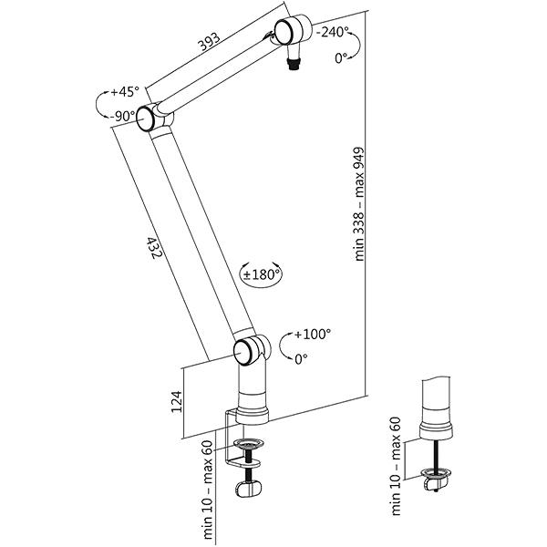 OPLITE Supreme Boom Arm Stand  Soporte para micrfono