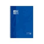 Cuaderno Oxford Espiral A4 Tapa Extradura 80h 90gr Azul