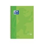 Cuaderno Oxford Espiral A4 Tapa Extradura 80h 90gr Verde