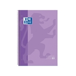 Cuaderno Oxford Espiral A4 Tapa Extradura 80h 90gr Violeta