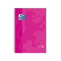 Cuaderno Oxford Espiral A4+ Tapa Extradura 80h 90gr Rosa