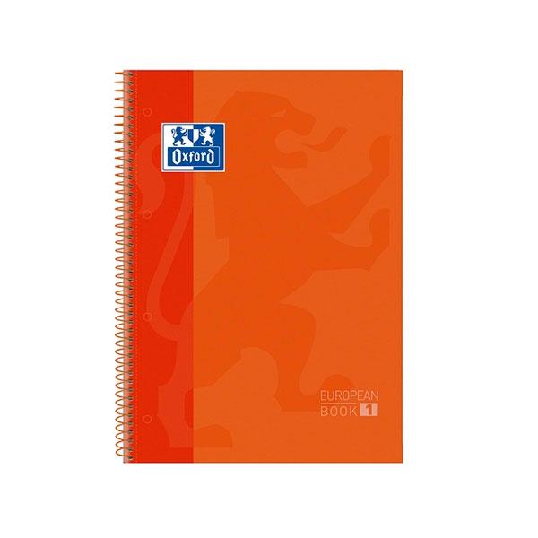 Cuaderno Oxford Espiral A4 Tapa Extradura 80h 90gr Naranja