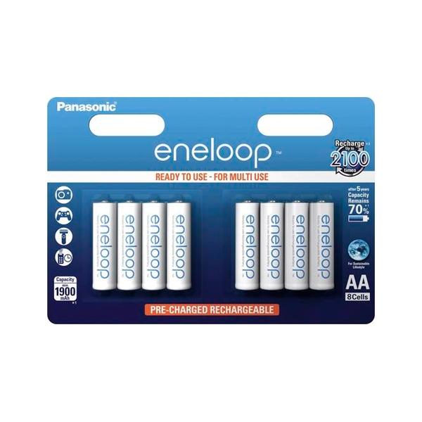 Panasonic Eneloop AA 1900mAh x8  Pilas