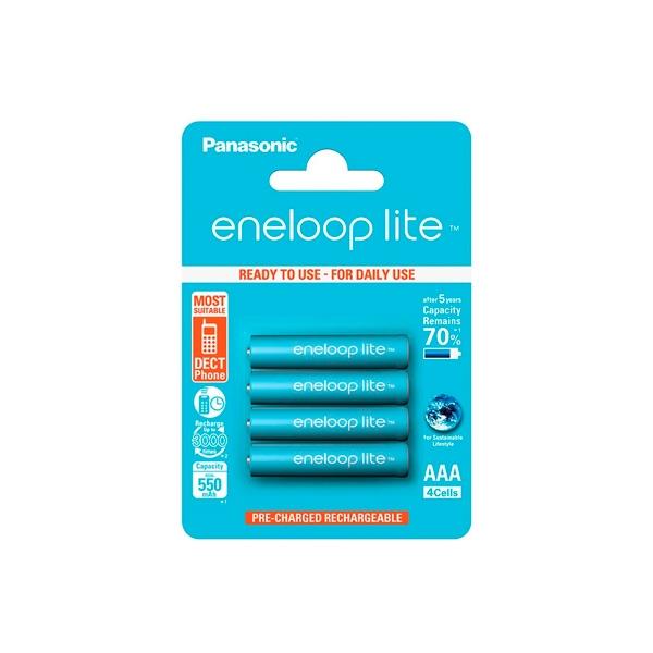 Panasonic Eneloop Lite AAA 550mAh x4 - Pilas