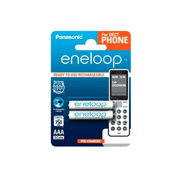 Panasonic Eneloop AAA 750mAh DECT x2  Pilas