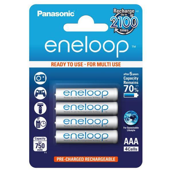 Panasonic Eneloop Micro AAA 750mAh 1×4 – Pilas