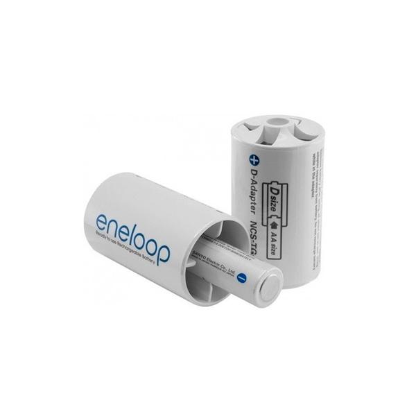 Panasonic Eneloop Adaptador de pilas AA/AAA a D x2